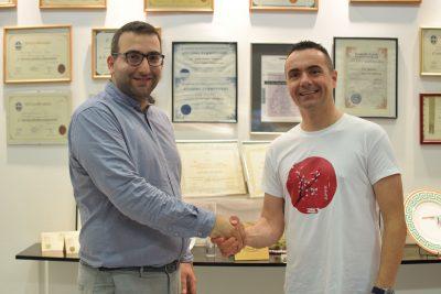 Jacko Levi Managing Director with Chef Dimitris Tziovaras