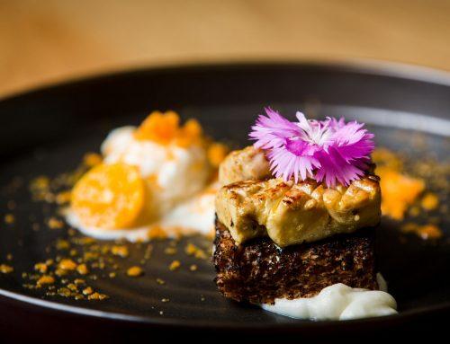 Brioche με foie gras & παγωτό σελινόριζα